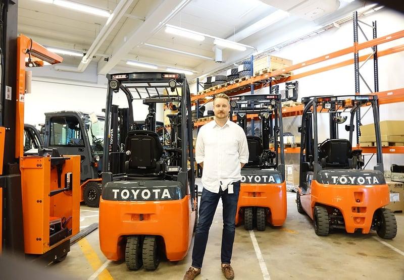 Joona Salminen, tuotepäällikkö ja kouluttaja Toyota Material Handlingilta